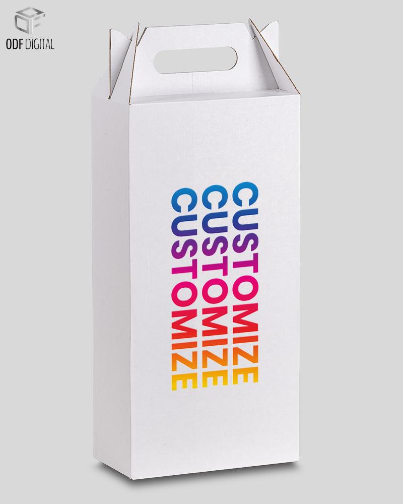 CONFEZIONE CON MANIGLIA per 2-Bottiglie da 80 COD.13